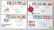 Großbritannien. 4 Briefumschläge FDC 1984-1986. Gehend die Post. Siehe das Foto.