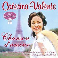 CATERINA VALENTE - CHANSON D'AMOUR-50 GROßE ERFOLGE IN FRANZÖSISCH  2 CD NEU