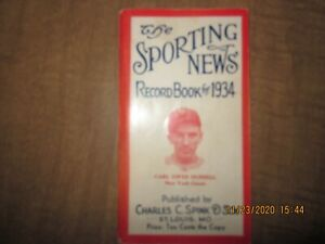 1934 The Sporting News Record Book