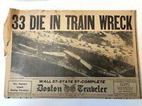 Boston Traveler Newspaper 1940 World War 2