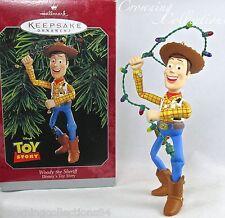 1998 Hallmark Woody the Sheriff Toy Story Keepsake Ornament Disney Pixar Cowboy