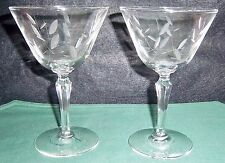 """PAIR OF  TWO 5"""" CRYSTAL WINE GLASSES. EXCELLENT"""