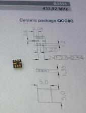 2 pièces Epcos Low-Loss saw Filtre 433,92 MHz b39431-b3555-u310 (m1498)