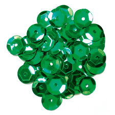 5x Sequins Cup 8mm Green Sewing Craft Tool Hobby Art UK Bulk Filoro