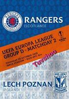 Glasgow Rangers v Lech Poznan EUROPA LEAGUE 29/10/20 READY TO DISPATCH!!