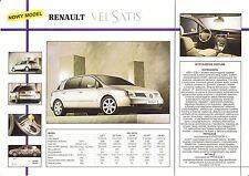 Renault Vel Satis 2001 catalogue brochure polonais Poland rare
