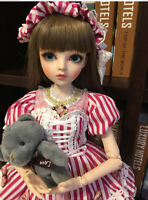 New 1/3 Handmade PVC BJD MSD Lifelike Doll Joint Dolls Baby Girl Gift Sally 24""