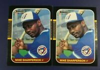 1987 Donruss # 565 MIKE SHARPERSON ROOKIE Lot 2 Toronto Blue Jays Dodgers