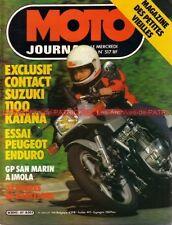 MOTO JOURNAL  517 Test SUZUKI GSX 1100 Katana GUZZI Le Mans PEUGEOT 80 1981