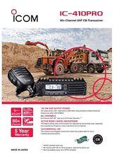 ICOM IC-410PRO 80 CH UHF CB TWO WAY RADIO IC 410 PRO IC410PRO 5 Watt