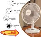 "12"" Oscillating Fan, White"
