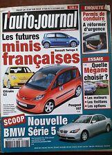 AUTO JOURNAL du 31/10/2002; BMW série 5/ Citroen C2/ Twingo II/ Peugeot 107