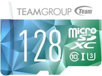 Team 128GB Color II microSDXC UHS-I/U3 Class 10 Memory Card with Adapter, Speed