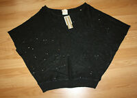 NWT Womens MATTY M Black Sequined Knitted Sweater Shirt Blouse Sz XL X-Large