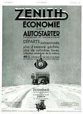Publicité Ancienne  Voiture - Carburateur ZENITH Autostarter 1934    P. 21