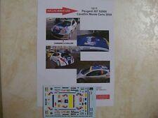 PEUGEOT 207 S2000 DAVID CAVALLINI RALLYE MONTE CARLO 2009 DECALS