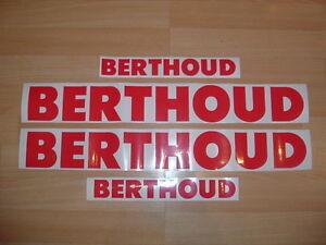 BERTHOUD SPRAYER TRAILER style stickers decals set