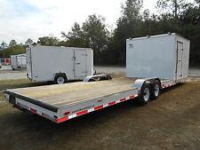 New 85 X 30 85x30 Hybrid Enclosed Cargo Open Utility Atv Car Hauler Trailer