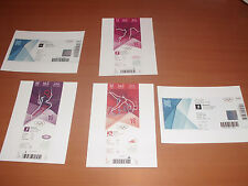 Lot 5 Photos Ticket Billet London 2012 Jeux Olympiques JO Riner Handball Bolt
