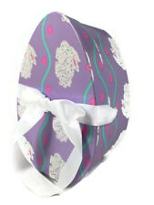 Hudson Paper Co. - Decorative Egg Shaped Gift Box - Purple With Fluffy Bunnies