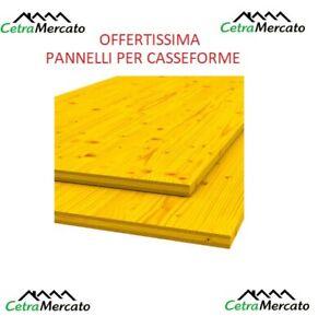 PANNELLO PANNELLI GIALLO GETTO CASSEFORME ARMATURA ABETE  SP. 2,7 X 50 2 -3 MT