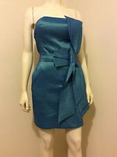 ROMEO&JULIET STRETCH PADDED BUST COCKTAIL PARTY BIG BOW SHEATH DRESS M