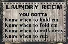 (Laundry Rm Knowledge) WALL DECOR, DISTRESSED,PRIMITIVE,HARD WOOD, SIGN, PLAQUE