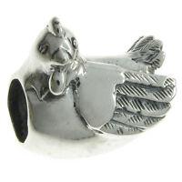 925 Sterling Silver Farm Chicken Egg Hen Bead For European Charm Bracelets