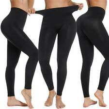 Women High Waist Black Leggings Tummy Slimming Shapewear Compression Body Shaper