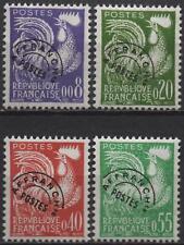 """France: Y et T Préo No 119 à 122 neufs **. """"Coq gaulois""""."""