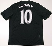 MANCHESTER UNITED 2009/2010 AWAY FOOTBALL SHIRT JERSEY NIKE ROONEY #10 SIZE M