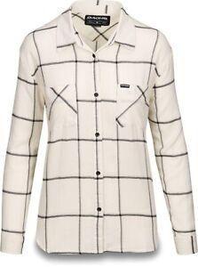 New 2019 Dakine Women's Ellis Lightweight L/S Flannel Shirt Medium Turtledove