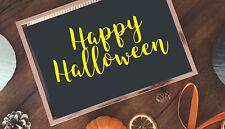 Happy halloween vinyl decal, sticker