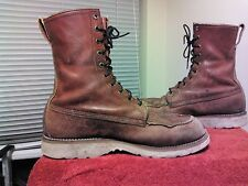 Vintage Men's Red Wing Irish Setter Crepe Sole Moc Toe Boots Sz 9.5EE Made USA