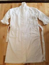 FRETTE 100% Cotton Soft Velour Shawl Collar L/XL White Bathrobe