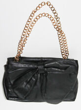 7CHI Back Leather Chain Bow Shoulder Small Bag Clutch Purse
