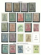 Angola 1932/1934 - Ceres x 22 stamps mint an used