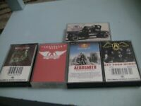 Aerosmith 5 Cassette Lot:Rock in a Hard Place,Pump,Greatest Hits,Get Your Wings