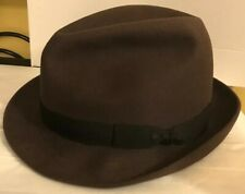 ffc3b3b1c53ee New ListingTrue Vintage Cavanagh Hat Size 7 Fedora Brown With Black Band  Excellent Conditio