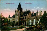 Brebach Saar Germany Postcard used 1921 Saargebiet Stamp Overpr. Chicago IL USA