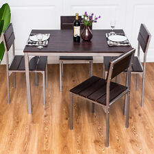 Metal Dining Chairs Wood Table dining furniture sets | ebay