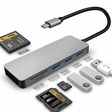 USB C hub,CF/SD/TF Card Reader, Multi-Port Type C Adapter(Thunderbolt 3 Port) fo