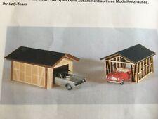 Carport offen - Lasercut Echtholz Bausatz von IMS 722901