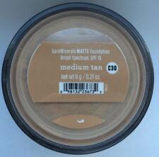 Matte Medium Tan Bare by Escentuals BareMinerals Foundation XL 6g C30 Brand New