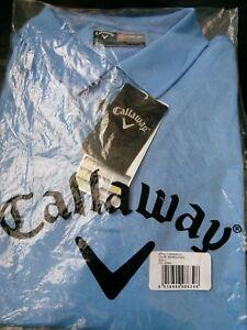 BNWT CALLAWAY OPTI-DRY LADIES GOLF POLO LIGHT BLUE SIZE LARGE