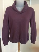 Brooks Brothers Womens Merino Wool Pullover Sweater Size Purple Large V Neck
