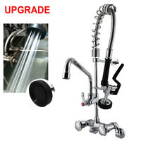 "MaxSen Commercial Faucet Wall Mount Kitchen Sink Pre-Rinse Sprayer 25"" Height"