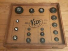 Vintage Veco Wheel Display case Model RC air plane Car Rubber Tires scale kit2 3