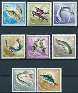 [P5634] Mongolia 1965 Fishes good set of stamps very fine MNH