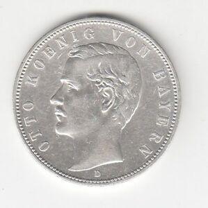 Bayern  5 Mark  1907  König Otto   Sehr Schön/Vorzüglich
